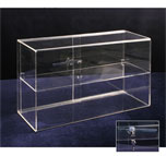 ACRYLIC BOX W/ ONE SHELF